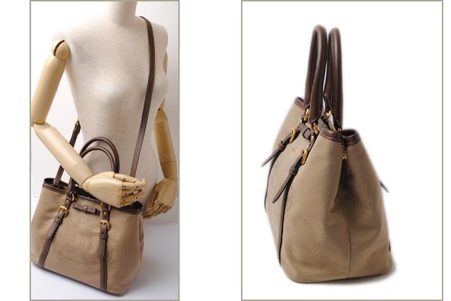 6c79a69466ae ... closeout prada handbag shoulder bag 2way prada nylon logo jacquard  corda brucia khaki bn1841 mint condition