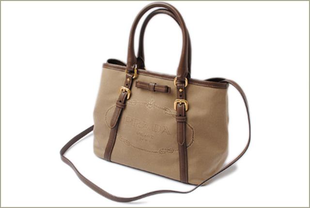 Prada Handbag Shoulder Bag 2way Nylon Logo Jacquard Corda Brucia Khaki Bn1841 Mint