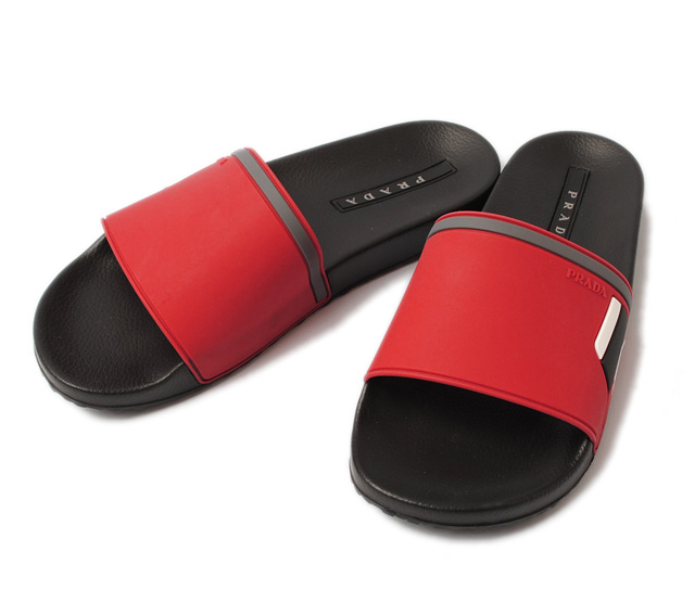 73fcb4c312b2 Prada men sandals. PRADA slippers   rubber sandals red   black 4X3102