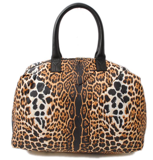 340f6ed38d08 Saint-Laurent handbag   mini-Boston bag YVES SAINT LAURENT EASY  イージーレオパード    leopard pattern nylon 208314