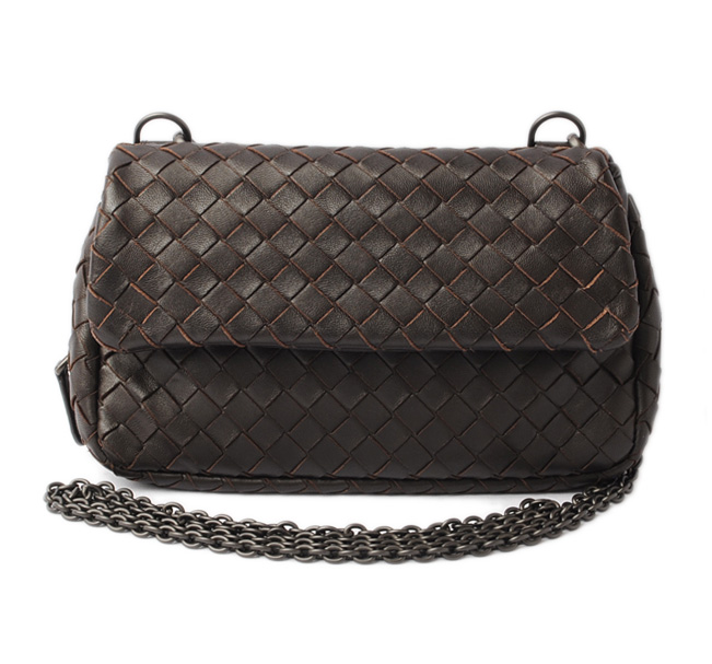 Dark brown outlet gift present with ボッテガヴェネタショルダーバッグ / clutch bag BOTTEGA  VENETA shoulder chain
