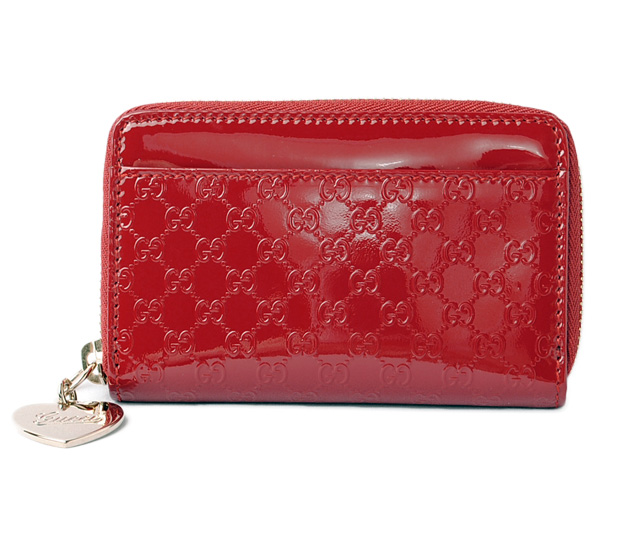 67b101395071 Gucci wallet / coin case / card case GUCCI key ring micro Gucci sima patent  leather ...