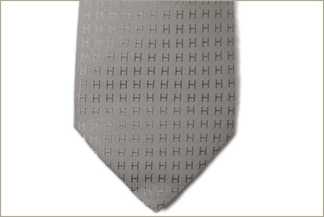 eaed7ab5d09e Hermes tie HERMES 030189T GRIS/ gray system H logo silk 100% FACONNEE H  エルメス エルメス エルメス エルメス