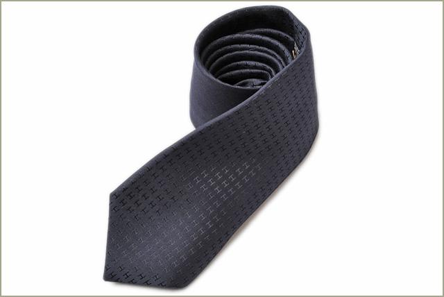 a4c766c6fb1a Hermes tie HERMES H logo silk 100% FACONNEE H of 030189T MARINE/ Malin  origin エルメス エルメス