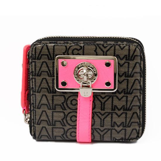 マークバイマークジェイコブス 財布 MARC BY MARC JACOBS 札入れ/折財布 ブラック/ピンク M382459