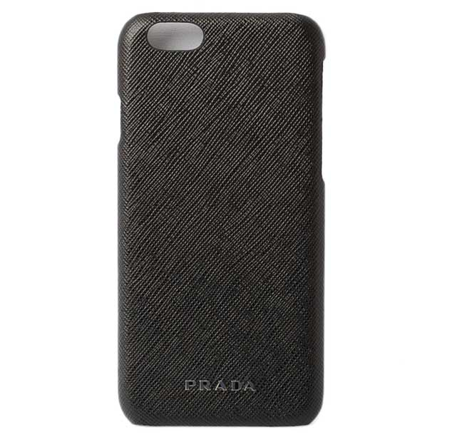 c48ecf35a8ba Prada iPhone six cases /6s case. PRADA 2ZH008 SAFFIANO TRAVEL/ type push  leather black プラダ PRADA