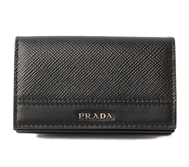 プラダ カードケース/名刺入れ PRADA 2MC122 SAFFIANO/型押しレザー NERO/ブラック 未使用【中古】