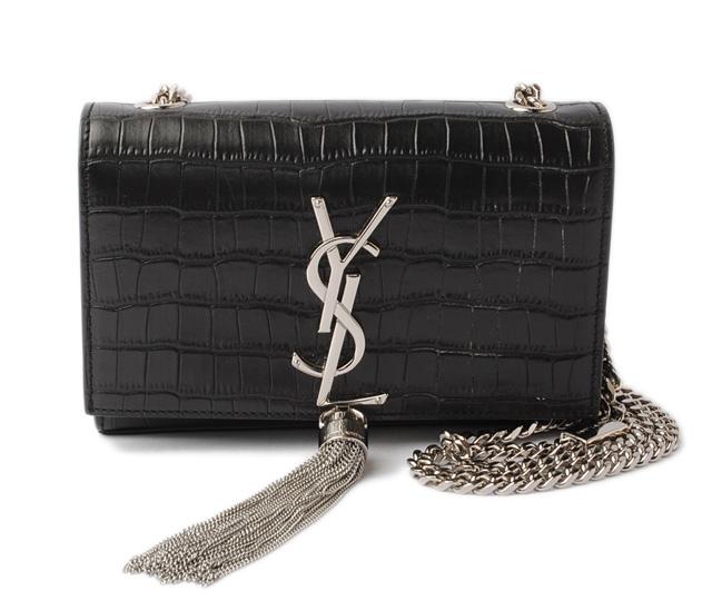 9a339c09f908 Saint-Laurent handbag   shoulder bag SAINT LAURENT classical music Small  tassel Satchell crocodile type push 354120