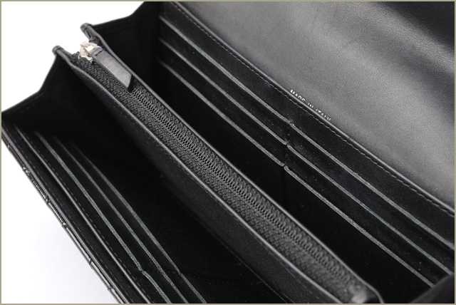 4b2f625d Chanel wallet CHANEL long wallet brilliant patent leather black / silver