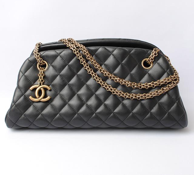 Chanel Shoulder Bag Chain Mademoie Bowling A50556 Black Bordeaux