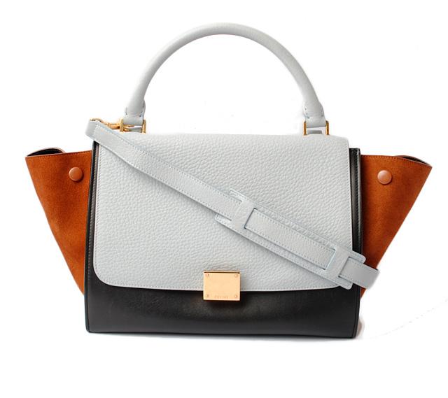 cc35af915b Celine handbag   shoulder bag. With CELINE trapeze Small TRAPEZE 174683VTI.05LB  light blue 2way strap セリーヌ CELINE