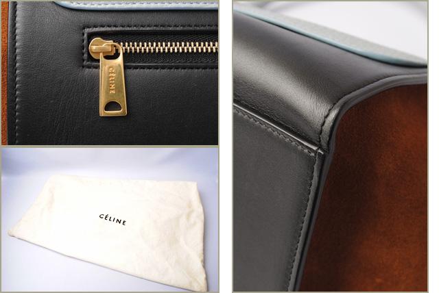 1a62bb16cc With Celine handbag   shoulder bag CELINE trapeze Small TRAPEZE 174683VTI.05LB  light blue 2way strap