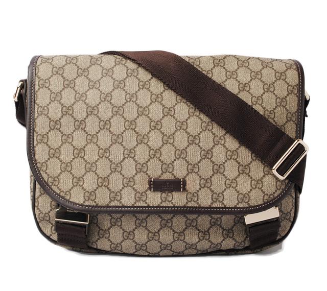 5cc5c4183660 Gucci messenger bag / shoulder bag A4 correspondence GUCCI GG plus GG brown  / beige 201732 ...