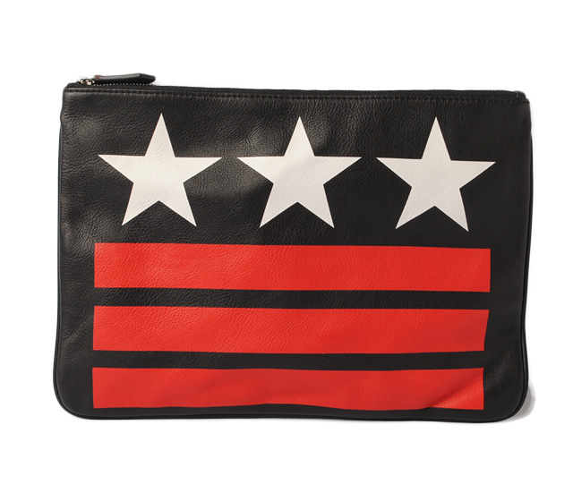 87ce120224c Givenchy clutch porch / clutch bag /iPad case. GIVENCHY black / red / white  star Aiko Nic print