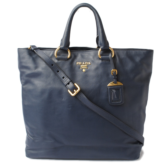 989e9d35dc ... france with prada bn1713 soft calf software calf navy 2way bag strap  872d0 1775b