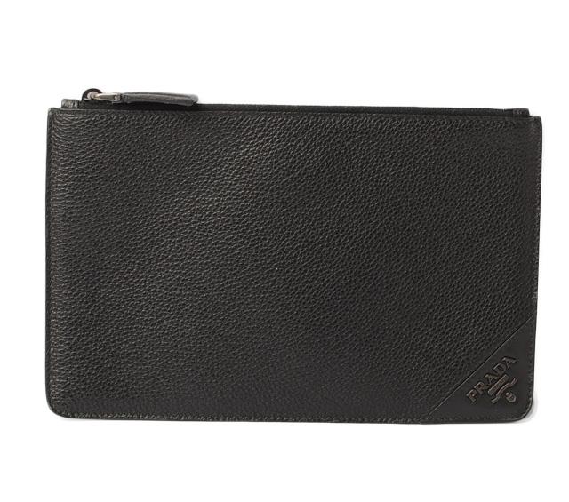 cf3a59d1cb1c Prada men flat porch / clutch bag / multi-wallet. PRADA 2M1441 SAFFIANO  TRAVEL/ サフィアノ GRANATO/ black
