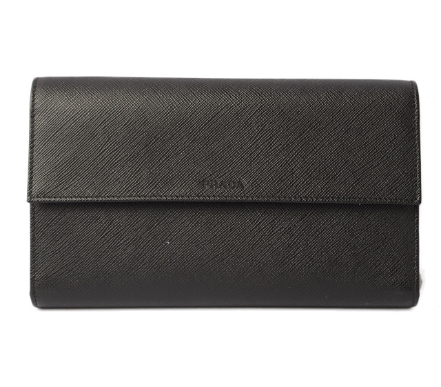 b82e0bb8f4a88f ... promo code prada wallet travel organizer men prada long wallet 2md434  saffiano type push leather nero ...