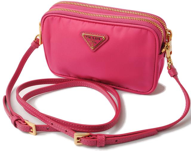 e6902452b3c7 TESSUTO/ テスート FUXIA/ Fuchsia hybrida 1N1861 with Prada shoulder bag /  handbag / porch PRADA mini-bag strap