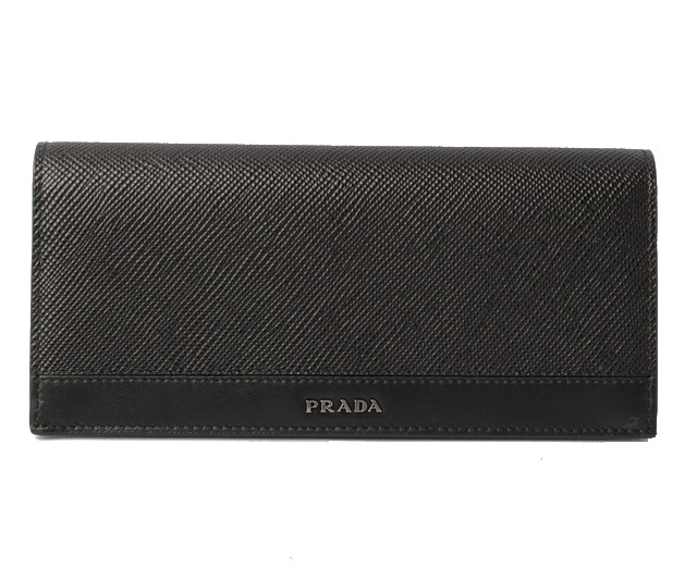 c5d91791b2f3 ... sale prada wallet men prada long wallet 2mv836 saffiano cuir type push  leather nero black 30970
