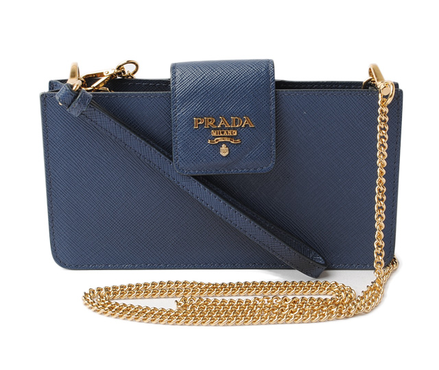 9f12ccebda69 Prada smartphone case /iPhone case. PRADA porch SAFFIANO METAL/ サフィアノ  BLUETTE/ blue 1ZH034