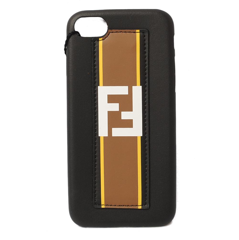 フェンディ iPhone8ケース/iPhone7ケース FENDI iPhoneケース/カバー FOREVER ブラック/マロン 7AR591 未使用【中古】