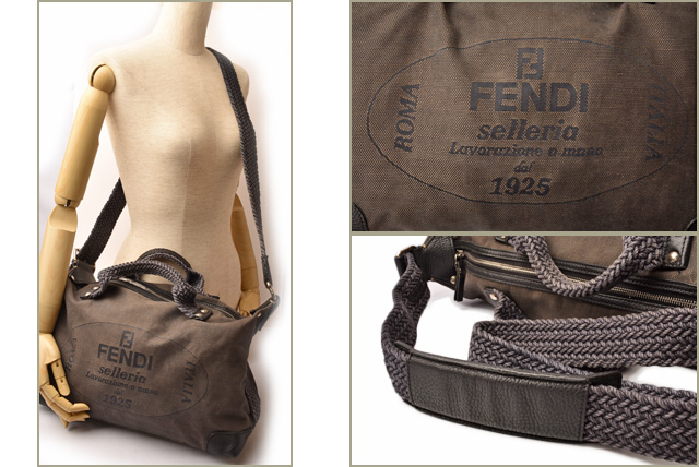 c423e8a4a7 Import shop P.I.T.  Fendi shoulder bag   handbag FENDI canvas logo ...