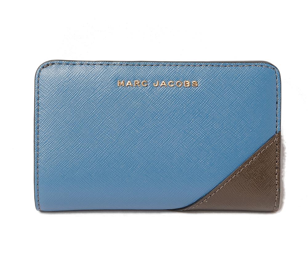 マークジェイコブス 財布 MARC JACOBS 折財布/コンパクトウォレットヴィンテージブルーマルチ M00133335