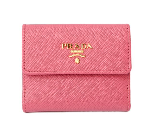 da4bc2c319d7 Prada wallet   mini-wallet. PRADA fold wallet 1MH350 SAFFIANO  type push  leather PEONIA  ペオニア