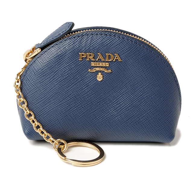 addbccd590dacf PRADA key ring 1MM218 SAFFIANO METAL/ leather BLUETTE/ blue belonging to.  PRADA プラダ 2折長財布
