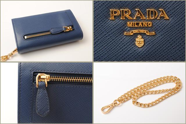 b904ae3e0240 ... 1MC015 SAFFIANO/ type push leather BLUETTE/ blue with Prada wallet /  mini-wallet ...