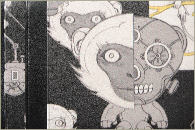 Prada coin case / coin purse PRADA 2MC021 VITELLO MONKEY/ comics print  NERO/ black is unused