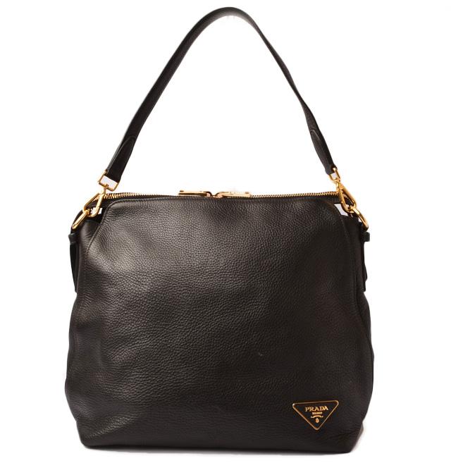 4d1830e1f659 Prada shoulder bag / tote bag. NERO/ black with PRADA VIT.DAINO/ software  calf 2way strap
