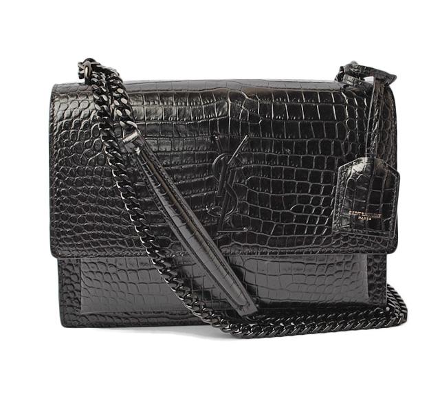 6fa75aae0226 Saint-Laurent Paris handbag   shoulder bag SAINT LAURENT sunset monogram bag  chain crocodile type push 442906