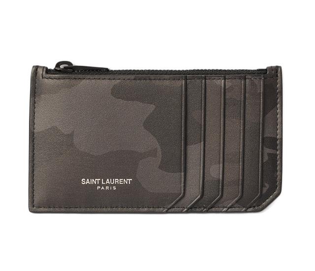 178de14eee Saint-Laurent Paris coin case / card case YSL men SAINT LAURENT PARIS ship  porch calf-leather CAMOUFLAGE/ camouflage 458589