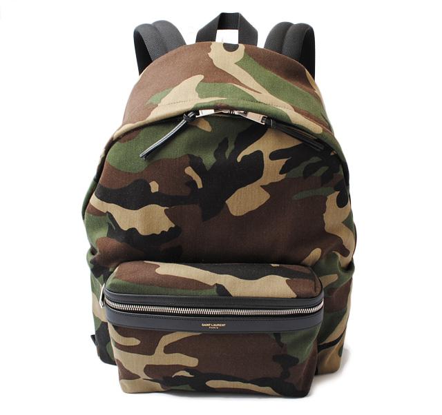 Saint-Laurent backpack   rucksack YSL SAINT LAURENT city camouflage    camouflage army green 435988 95d7873d45