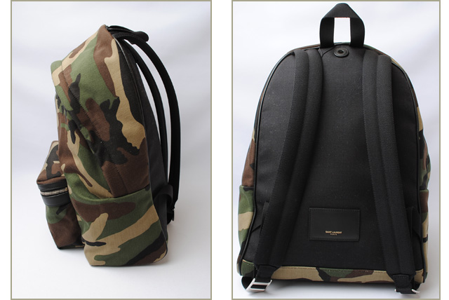 9e5b9cea1333 Saint-Laurent backpack   rucksack YSL SAINT LAURENT city camouflage    camouflage army green 435988