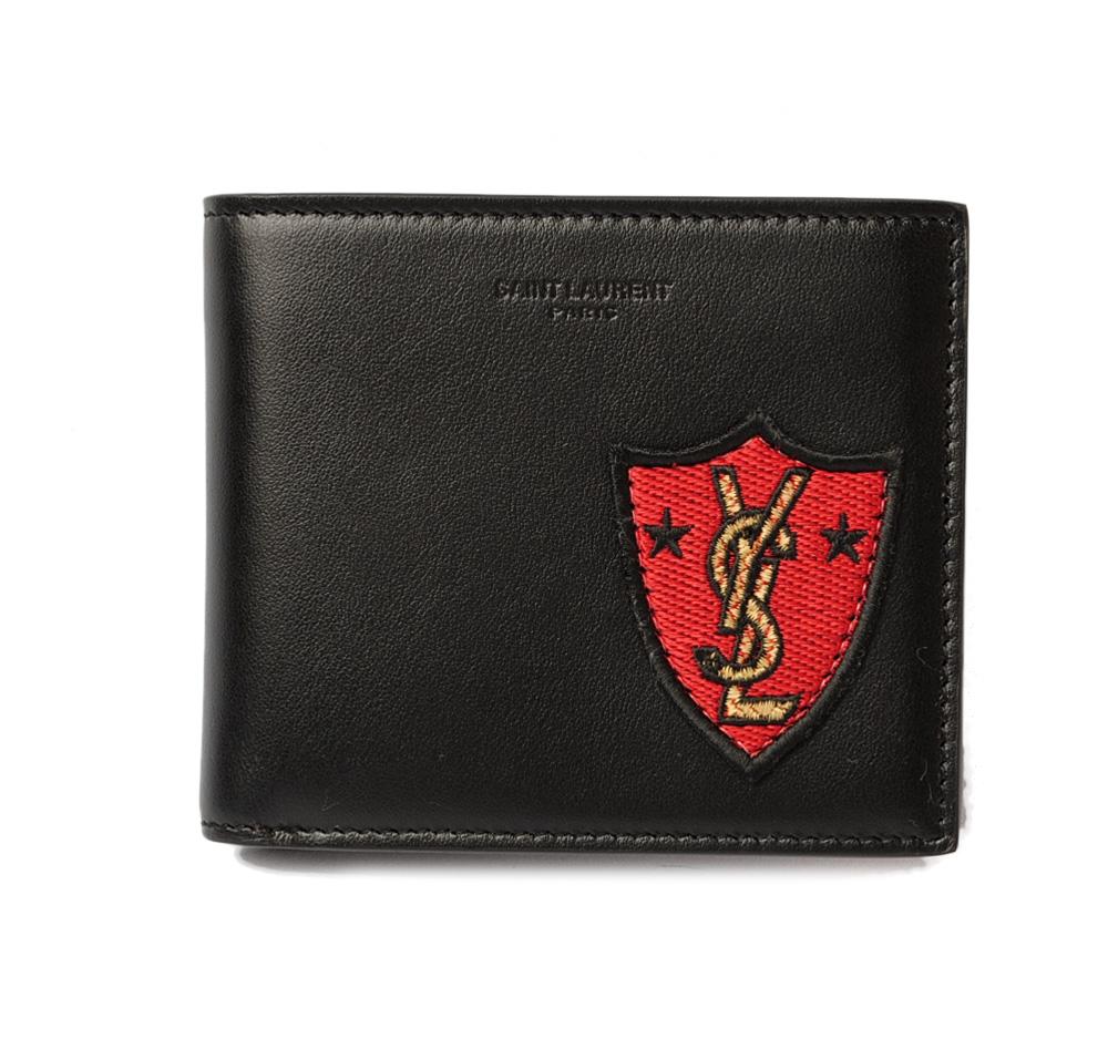 サンローランパリ 財布/札入れ YSL SAINT LAURENT PARIS メンズ 折財布 396307 ブラック/ロゴ