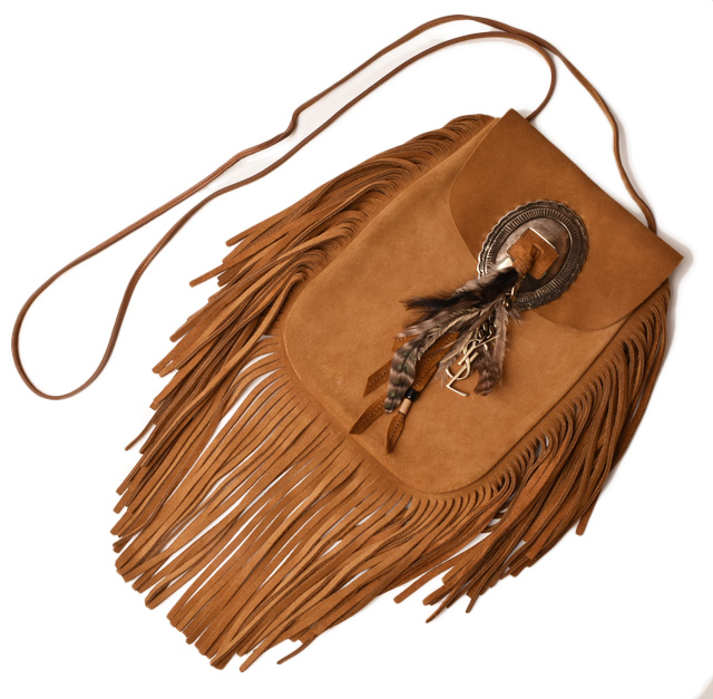 2b6485522794 Saint-Laurent Paris shoulder bag SAINT LAURENT fringe western vintage brown