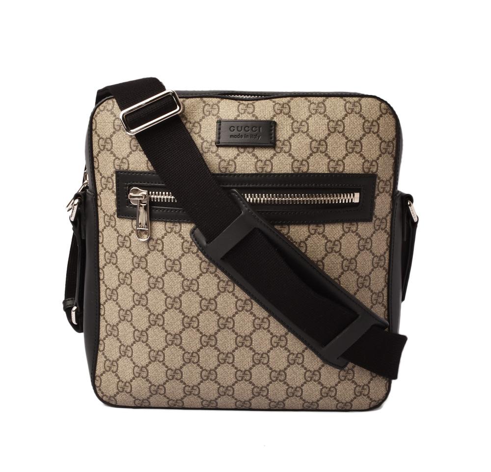29949701e3 Gucci shoulder bag / messenger bag GUCCI GG スプリーム GG brown / beige black  473878