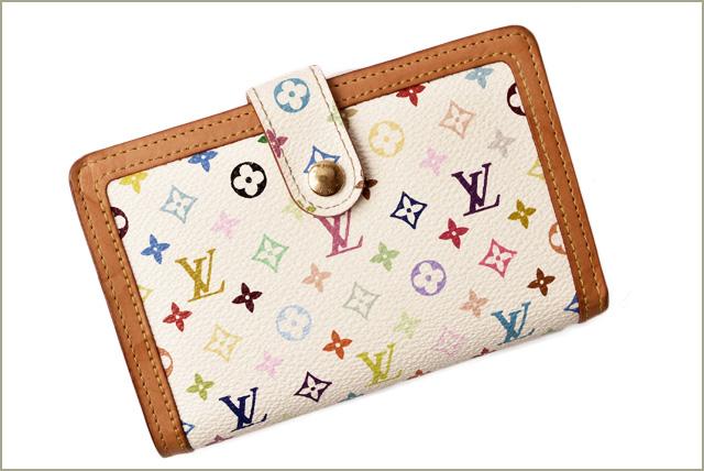 5e1f190744e9 ルイヴィトン 財布LOUIS VUITTON がま口財布/ポルトフォイユヴィエノワ M92987 ブロン  マルチカラールイヴィトンより、女性に使いやすくて人気のがま口タイプのお財布 ...