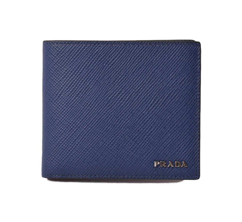 a55803bcef23 ... inexpensive 2mo513 saffiano cuir blackout let mint condition for prada  prada fold wallet billfold men 697cd