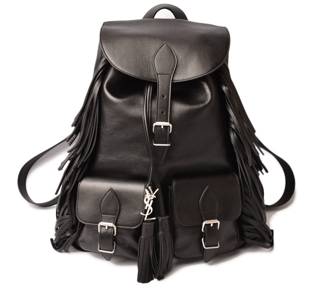 242c52f82c53 Saint-Laurent backpack   rucksack. SAINT LAURENT Festival fringe bag 415196
