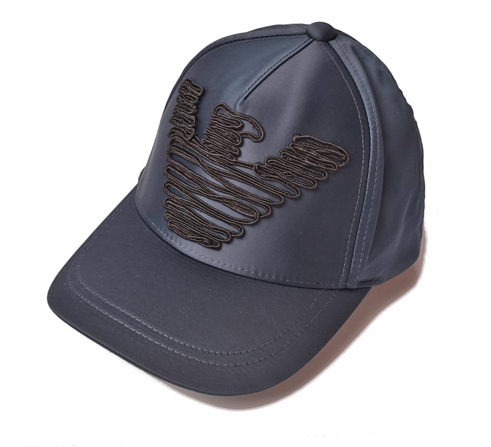 エンポリオアルマーニ キャップ/帽子 EMPORIO ARMANI メンズ ベースボールキャップ イーグル/ブルー 637516 8A551 00035