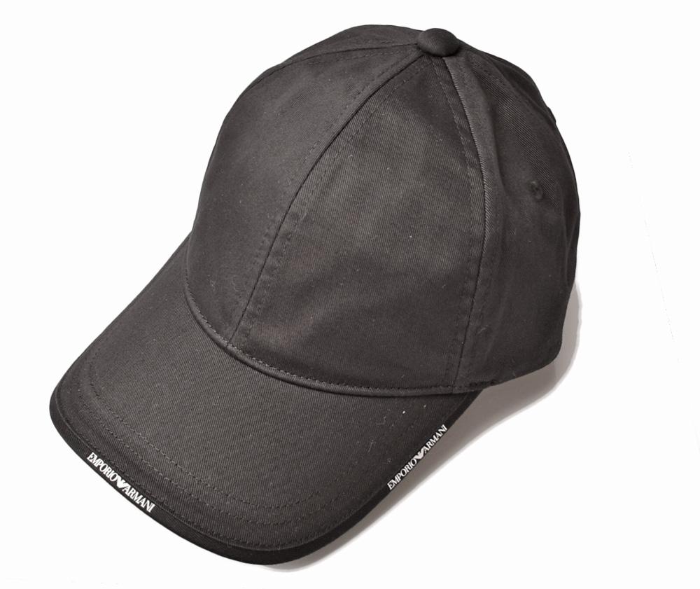 エンポリオアルマーニ キャップ/帽子 EMPORIO ARMANI メンズ ベースボールキャップ ロゴ/ブラック 627502 8A552 00020