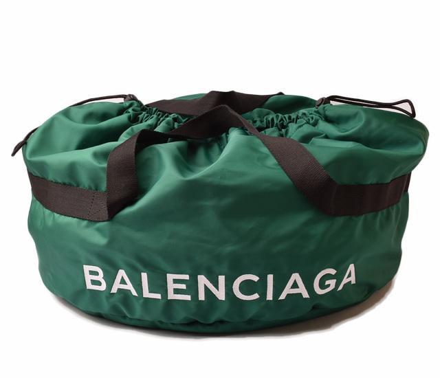 バレンシアガ ボストンバッグ/トートバッグ BALENCIAGA 489939 9F91X 2946 WHEEL BAG/ホイールバッグ グリーン 未使用【中古】