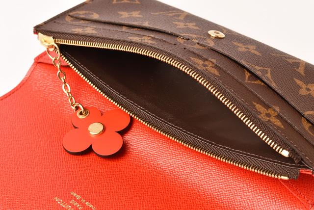 a9c053583435 Louis Vuitton wallet LOUIS VUITTON long wallet ポルトフォイユ Emily M62941  monogram flower charm mint condition