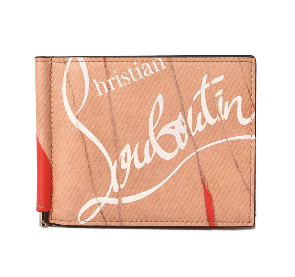 2a3cc219973 クリスチャンルブタンマネークリップ / wallet Christian louboutin fold wallet /CLIPSOS WALLET  KRAFT 3185051 craft