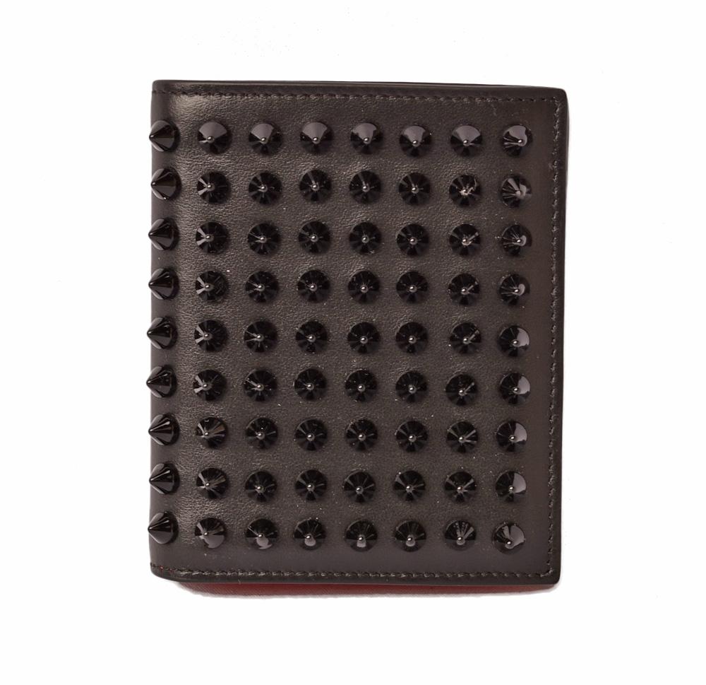 クリスチャンルブタン 財布 Christian louboutin 折財布/PAROS CALF PARIS SPIKES/スパイク ブラック 1165111 CM53