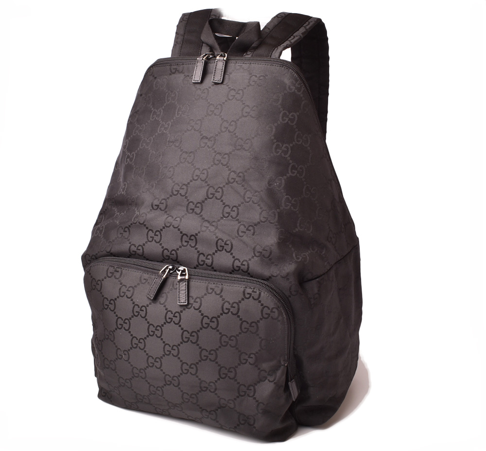 Gucci backpack / rucksack GUCCI men rucksack GG nylon / black 112250