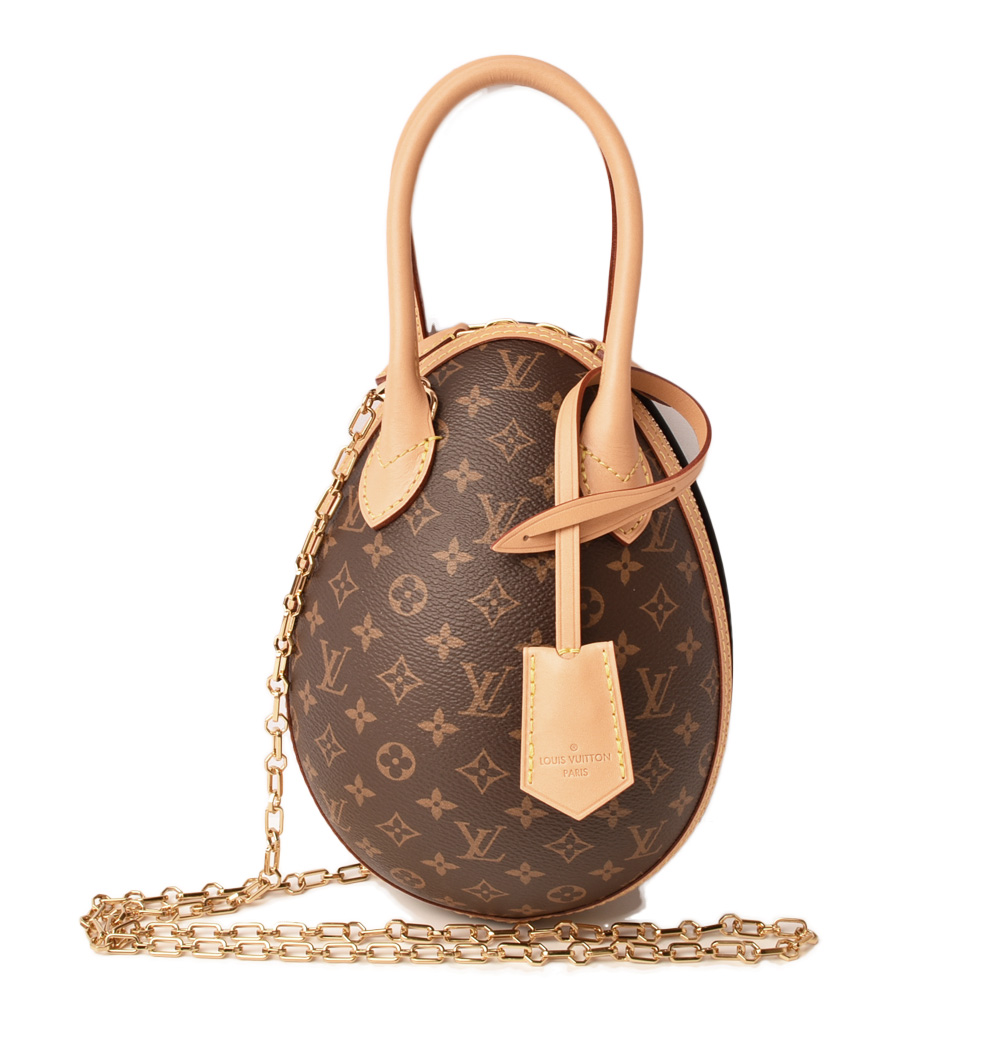 Louis Vuitton Handbag Shoulder Bag Egg M44587 Monogram Chain Mint Condition